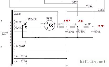 80s805胆机电路图