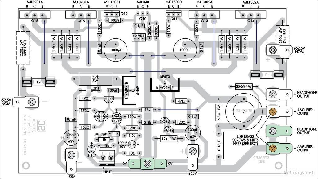 给大家发个图,2n3055 mj2955制作的50 watts功放